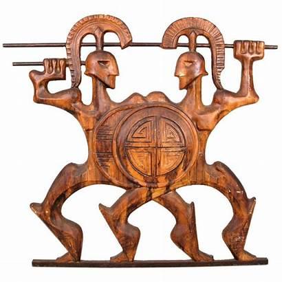 Roman Gladiators Wall 1950 Sculpture Frederick Weinberg