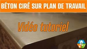 Béton Ciré Sur Plan De Travail : b ton cir plan de travail cuisine salle de bain ext rieur youtube ~ Nature-et-papiers.com Idées de Décoration