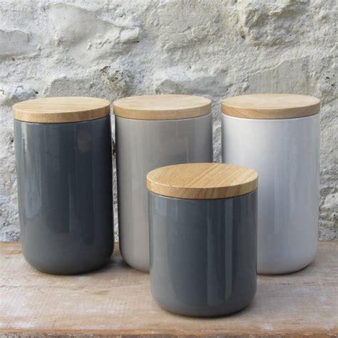 ceramic storage jars  wooden lids  horsfall wright