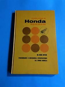 1967 Chilton Honda Motorcycle Repair Tune Up Guide Hard