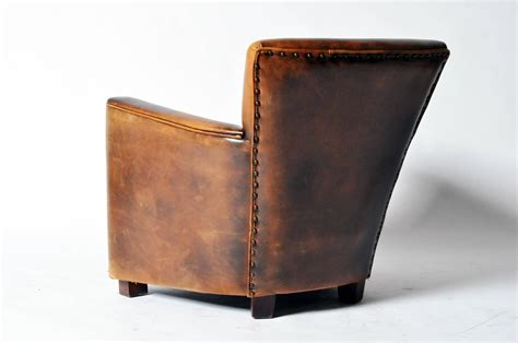 distressed leather chair distressed leather club chair at 1stdibs 3381