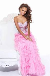 Sparkle Beaded Strapless Sweetheart Pink Long Prom Dress ...