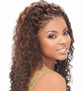 Micro braid hair