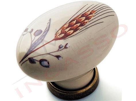 pomelli ceramica cucina pomolo pomello 670 81 spiga porcellana ceramica ovale base
