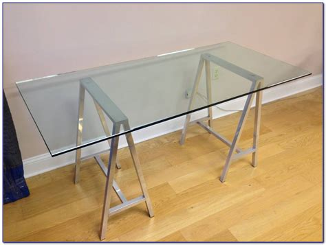 Ikea Glass Top Sawhorse Desk  Desk  Home Design Ideas. Antique Oak Dining Table. Table Leg Risers. Narrow End Table With Storage. Bookshelves And Desk Built In. Real Wood Office Desk. Staples 4 Drawer File Cabinet. Recover Desk Chair. Pickup Bed Drawers
