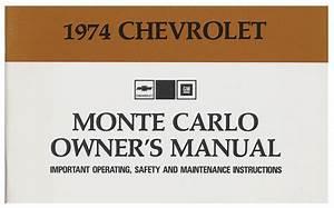 Owners Manual  1974 Monte Carlo   Opgi Com