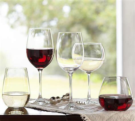 zwiesel schott wine glasses stemless glass classico champagne pottery barn tabletop scroll potterybarn stemware furniture