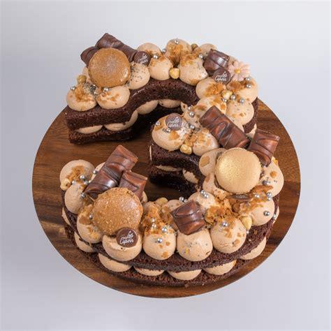 Recette du number cake 20 aux trois chocolat pour fêter le nouvel an ! les Cup'inn - Number cake praliné 6 pers.