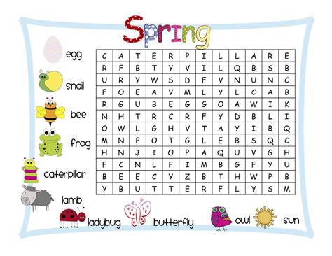 free elementary word search printables learning printable