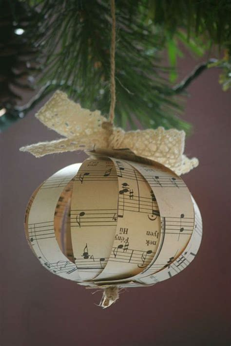 music christmas ornament 10 beautiful sheet ornaments you can make yourself