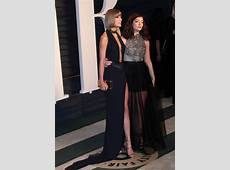 Taylor Swift with Lorde at the 2016 Vanity Fair Oscar