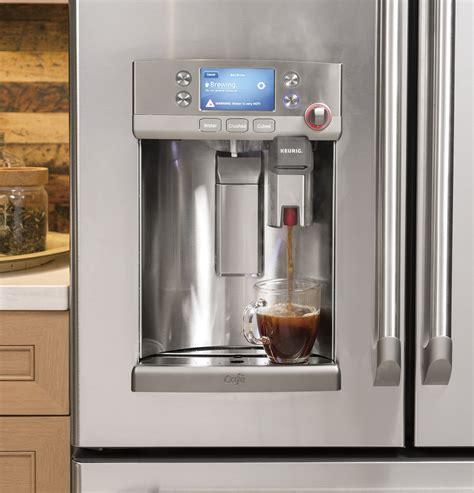 ge cafe   refrigerator   keurig system built