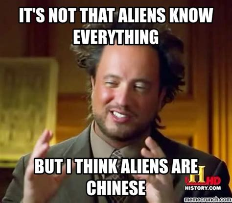 Aliens Meme Image - chinese aliens