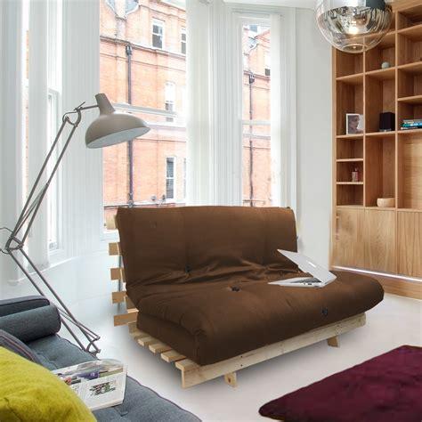 futon bed frames brown studio futon wooden frame sofa bed thick sleeping