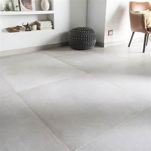 Carrelage Blanc Sol : carrelage sol et mur blanc casse effet beton time l 75 x l 75 cm sol tile floor concrete ~ Dode.kayakingforconservation.com Idées de Décoration