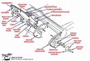 1963 Corvette Headlight Motor Assembly Parts