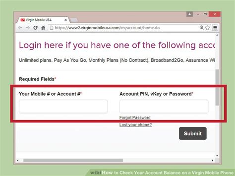 login account mobile number how to check your account balance on a mobile phone