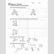 Drawings, Nets, And Other Models Worksheet For 10th Grade  Lesson Planet
