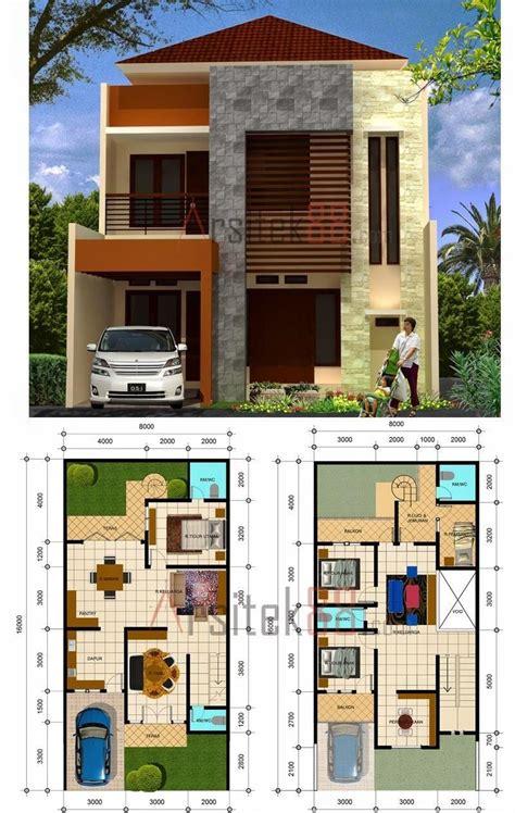 ide denah rumah minimalis  lantai type