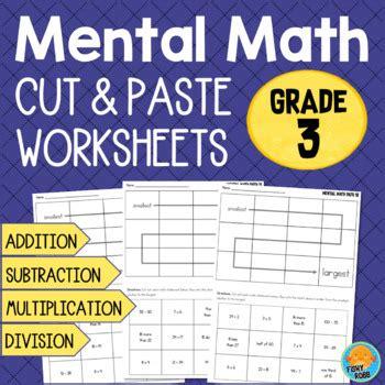 grade  mental math worksheets addition subtraction