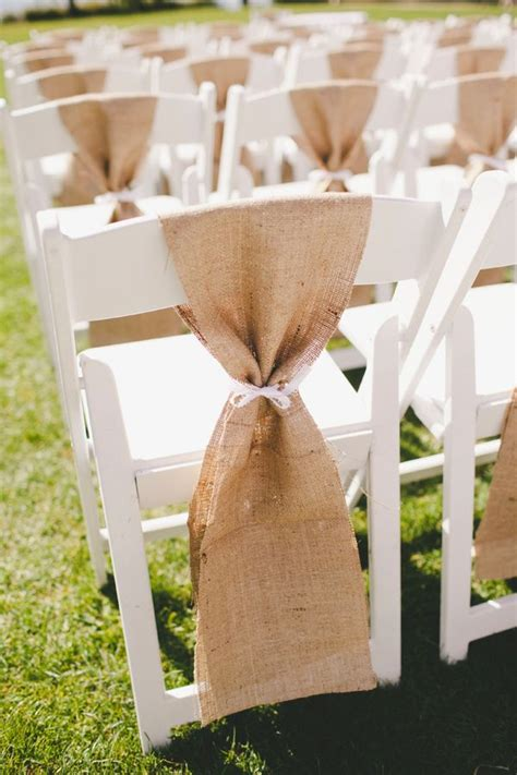 burlap chair sashes projects to try in 2019 wedding