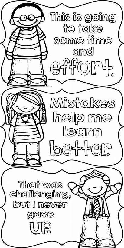 Mindset Growth Coloring Pages Posters Quotes Behavior