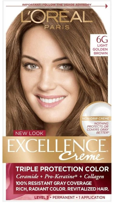loreal excellence permanent hair color creme light golden