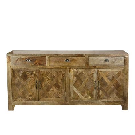 Rustic Sideboard Buffet by Parquet Farmhouse Mango Wood Rustic Sideboard Buffet Cabinet
