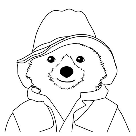 Kleurplaat Paddington leuk voor beertje paddington
