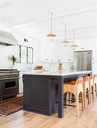 black and white kitchen Black Hardware: Kitchen Cabinet Ideas - The Inspired Room