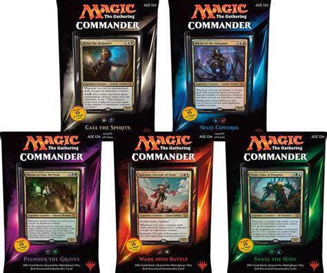 Mtg Commander Deck Builder by Mtg 2015 Commander Set Of All 5 Decks Hill S Wholesale