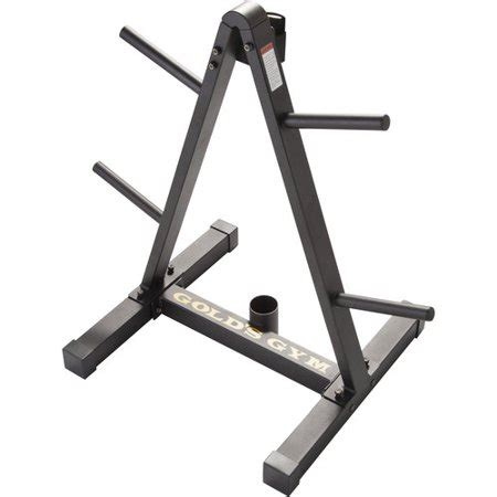 golds gym weight plate  barbell storage rack  compact design walmartcom