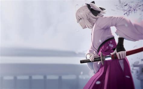 wallpapers sakura saber katana cherry blossom