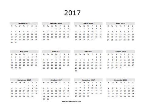 free printable 2017 calendar 2017 calendar free printable allfreeprintable free