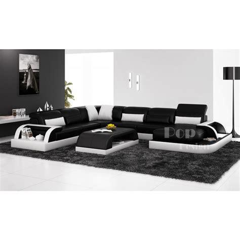 canapé blanc design photos canapé d 39 angle design noir et blanc