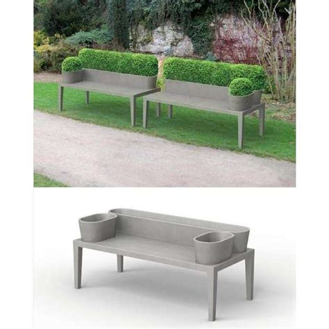 cement garden bench planter home design