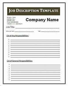 job description template google search business With basic job description template