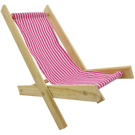 wood lawn folding chair pink and white stripe fabric