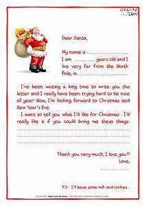 printable sample letter to santa claus with ps santa With christmas letter to santa claus
