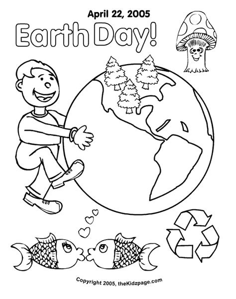 kindergarten earth day coloring pages   print