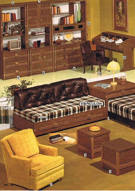 Living Room Salon Coiffure by 1974 Living Room By Herculon Mid Century Modern Interior