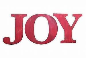 Joy letter set red for Joy letters