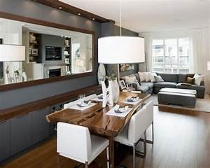 Spiegel Im Esszimmer : dekovorschl ge f r wohnzimmr mit essplatz spiegel an der wand zimmer pinterest ~ Orissabook.com Haus und Dekorationen