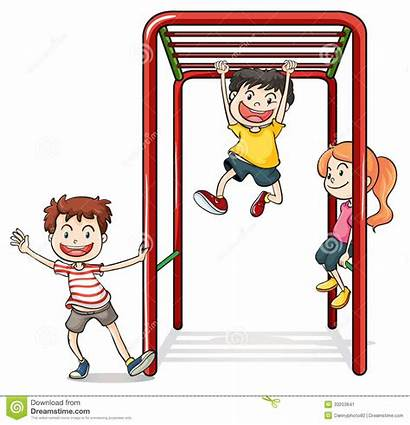 Monkey Bars Clipart Playing Background Illustration Clip