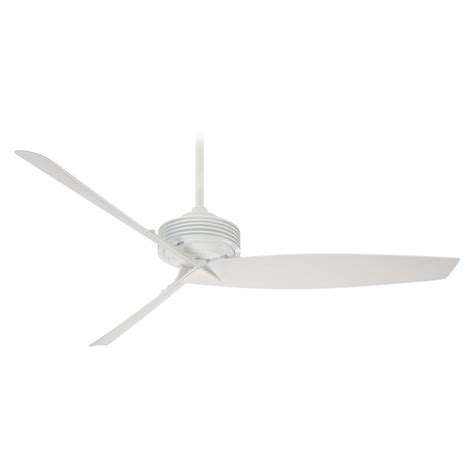 modern ceiling fan without light in white finish f733 wh