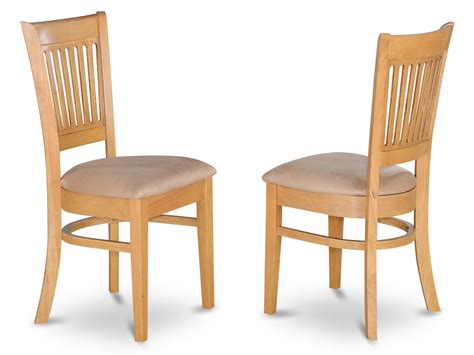set   vancouver dining room chairs  wood  cushion