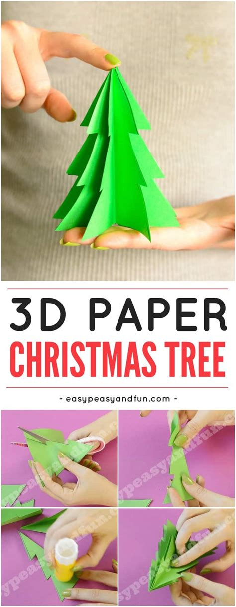 paper christmas tree template easy peasy  fun