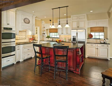 Home Decor 3 Light Pendant : Rustic Red Stained Wooden Island For Kitchen Under Black