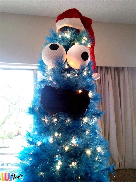 cookie monster christmas tree outdoor light  holiday