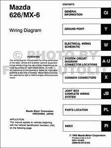 Mazda 626 Wiring Diagrams Manual